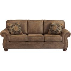This Cole microfiber reclining sofa in dark brown is a