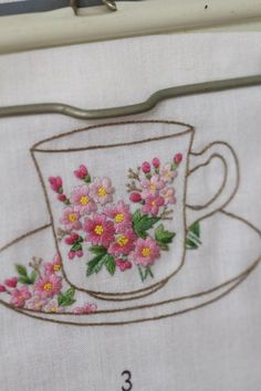 Wonderful Ribbon Embroidery Flowers by Hand Ideas. Enchanting Ribbon Embroidery Flowers by Hand Ideas. Hand Embroidery Projects, Embroidery Flowers Pattern, Embroidery Supplies, Learn Embroidery, Japanese Embroidery, Hand Embroidery Stitches, Silk Ribbon Embroidery, Embroidery Techniques, Cross Stitch Embroidery
