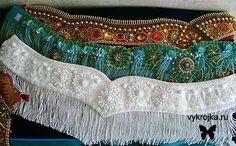Выкройка пояса для танца живота Free Pattern for a Bellydance Belt