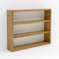 Estantería madera natural velada