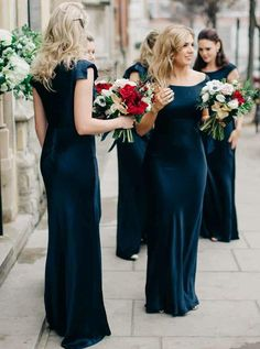 Simple Wedding Dress, Exquisite Spandex Jewel Neckline Floor-length Sheath/Column Bridesmaid Dresses, Shop fit and flare dresses that match your bridal style featuring the latests trends. Navy Blue Bridesmaid Dresses, Bridesmaid Dresses Online, Wedding Dresses, Prom Dresses, Dress Prom, Lace Wedding, Dream Wedding, Party Dress, Affordable Dresses