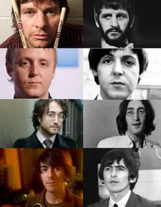 The Beatles and their sons.