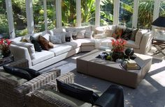 Sunny & inviting conservatory. We could while away hours relaxing in here.