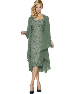8e927599075f D Lace Mother The Bride Dresses Formal Gowns With Chiffon Jacket Wraps from  the popular stores - all in one.