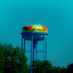 Manistee Water Tower in Manistee, Michigan