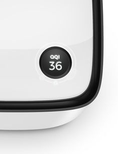 #Aeris #Air purifier #Minimalist #Rounded #screen #User Interface #Vent #White