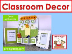 Ideas and pictures to help you decorate your preschool, pre-k, and kindergarten classroom.