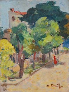 "Nicolae Tonitza (1886- 1940)- ""Street corner"" Post Impressionism, Art History, Illustration Art, Illustrations, Drawings, Painting, Cityscapes, Romania, Corner"