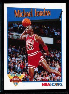 Michael Jordan 1991/92 Hoops Slam Dunk Sp Bv$25/$30  Chicago Bulls Mint!!