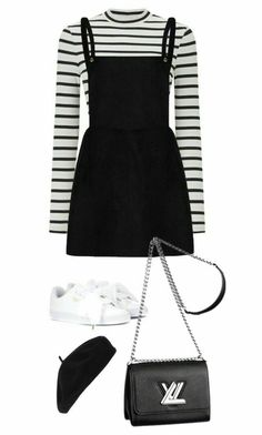 Miss Selfridge, Puma, Accessorize and Louis Vuitton Teen Fashion Outfits, Kpop Fashion, Girly Outfits, Cute Casual Outfits, Grunge Outfits, Simple Outfits, Cute Fashion, Outfits For Teens, Pretty Outfits