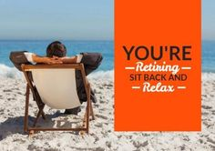 Edit this really cool template for a retirement party invitation. This can be easily edited in Design Wizard. A stunning background image of the beach with a bright orange textbox displaying a happy retirement message. Retirement Party Invitations, Retirement Parties, Beach Images, Beach Photos, Happy Retirement Messages, Sit Back And Relax, Invitation Templates, Background Images, Bright
