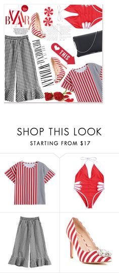 """""""Red stripes"""" by nerma10 ❤ liked on Polyvore featuring Lauren Lorraine"""