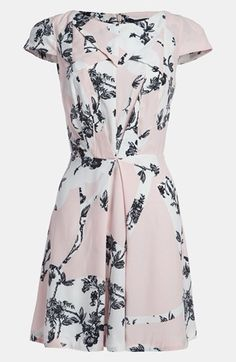 Topshop 'Origami' Toile Dress