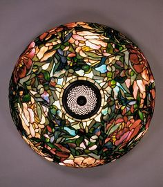 Leaded glass and bronze floor lamp ). Designed by Louis Comfort Tiffany ) for Tiffany Studios Images and text courtesy The. Tiffany Stained Glass, Stained Glass Lamps, Tiffany Glass, Stained Glass Patterns, Leaded Glass, Stained Glass Windows, Mosaic Glass, Louis Comfort Tiffany, Art Nouveau
