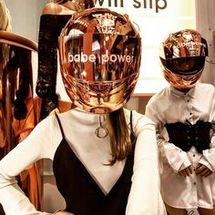 "MISSGUIDED, Westfield Stratford City, Stratford, UK, ""Babe Power"", (Chrome Helmets), creative by Hello Flamingo, pinned by Ton van der Veer"