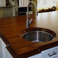 1- must-haves for the luxury kitchen.  Exotic wood countertop