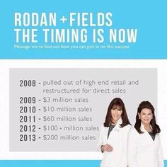 Why did I join R+F? click on the link. It's the 4th largest & fastest growing premium skin care brand in the US. It's going BIG...now is the time to join me.