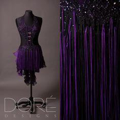 Black & Purple Latin w/ Fringe
