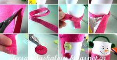 12 modèles de bricolages d'hiver à faire avec rouleaux de papier hygiénique!