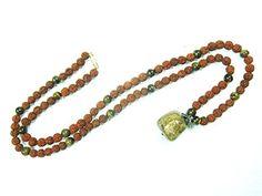 Gift for Womens- Tiger Eye Mala Prayer Beads Rudraksha Rosary 108+1 Japa Mala Mogul Interior http://www.amazon.com/dp/B00PLD0K92/ref=cm_sw_r_pi_dp_8kwCub1KK8DX6