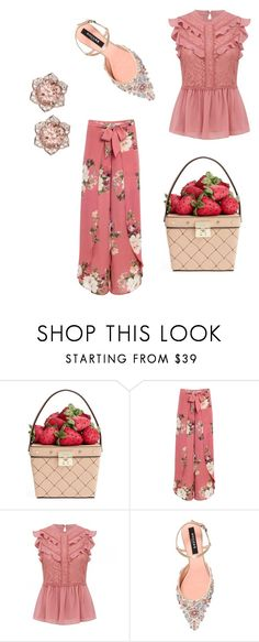 """strawberry picking"" by miaheartx ❤ liked on Polyvore featuring Kate Spade, Venus, Rochas, basketbags and plus size clothing"