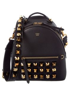FENDI Fendi Gold Edition Mini Studded Leather Backpack .  fendi  bags   leather 891d9377c3361