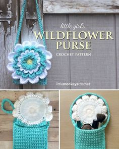 Wildflower Crochet Toddler Purse Free Pattern
