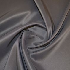 Charcoal Duchess Satin  150cm wide 100% Polyester Approx 226gsm Made in Japan  Dry clean / Hand wash recommended **Cool Iron**