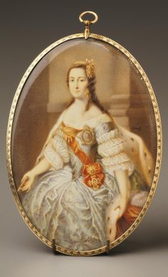 Miniature of Catherine the Great as a Young Woman, After Georg Christoph Grooth, ca. 1770