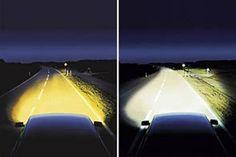 Verschil tussen zicht met halogeen of xenon verlichting