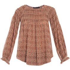 Isabel Marant Dajo waffle georgette blouse ($805) ❤ liked on Polyvore