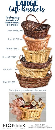 "10 wicker round baskets 10/"" size brilliant 4 gift hampers bread fruit 10 inch"