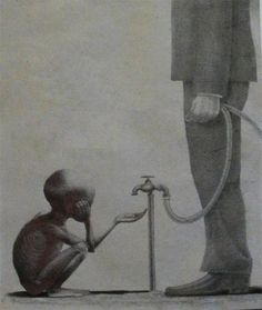 Pictures with deep meaning - Slydor - Your Daily Dose Of Fun. Meaningful Pictures, Powerful Pictures, Family Pictures, Pictures With Deep Meaning, Satirical Illustrations, Deep Art, Social Art, Political Art, Political Quotes