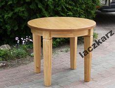 Stół dębowy prowansalski okrągły rozkładany 100 cm (5221452625) - Allegro.pl - Więcej niż aukcje.