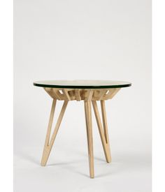 Eje 1, a birch plywood side table by José Antonio Gurrola, is part of the very cool collection from Pirwi, a Mexico City-based manufactur...