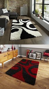 Vista Warped Circle Design Machine Made Rug (Various Colours & Sizes)