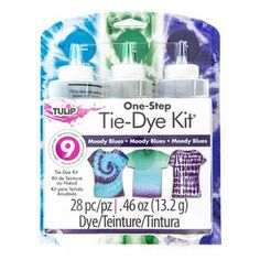 Psychedelic Tulip One-Step Tie Dye Kit Diy Projects Videos, Fun Projects, American Girl Doll Room, Tie Dye Kit, Blue Tulips, Protective Gloves, One Step, Silhouette Cameo Machine, Moody Blues