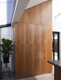 Why this modern cottage extension took its inspiration from glasshouses Ercol Chair, Eames Chairs, Cottage Extension, Steel Trusses, Cottage Porch, Old Garage, Boundary Walls, Tall Cabinet Storage, Kitchen Storage