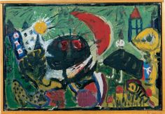 Asger Jorn, Karel Appel, Constant, Corneille and Erik Nyholm  CoBrA modification of a work by Richard Mortensen, 1949