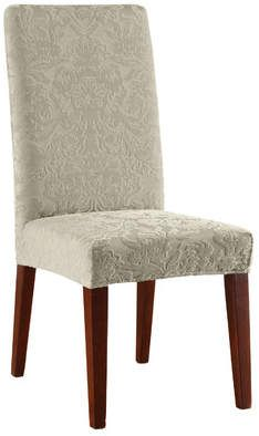 Sure Fit Stretch Jacquard Damask Dining Chair Slipcover