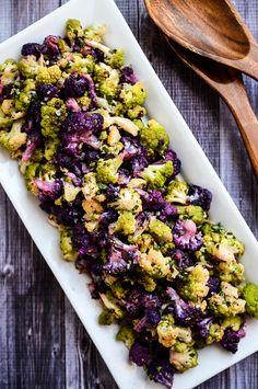 Roasted Cauliflower with Tahini-Cilantro Vinaigrette by blissfulbasil #Salad #Cauliflower #Tahini #Cilantro #Healthy