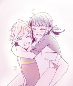 Adrien and Marinette being cute (Miraculous Ladybug) Mlb, Adrien X Marinette, French Cartoons, Marinette Ladybug, Ladybug Y Cat Noir, Miraclous Ladybug, Nerd, Kids Shows, Anime Ships