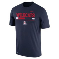 Men's Nike Arizona Wildcats Legend Staff Dri-Fit Tee, Size: Medium, Blue (Navy)
