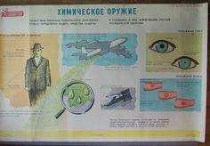 Large Soviet Poster / CIVIL Defence Poster / Original by EUvintage