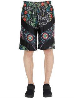 NIKE Nikelab X Rt Floral Printed Shorts, Black. #nike #cloth #shorts