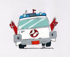 Real GHOSTBUSTERS Original Production Animation Art Cel Matted tilt