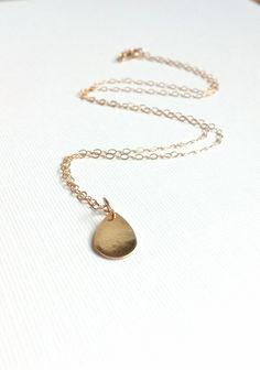 Sale Teardrop Gold Necklace 14k Gold Filled Chain by RHjewels on Etsy https://www.etsy.com/listing/97404360/sale-teardrop-gold-necklace-14k-gold