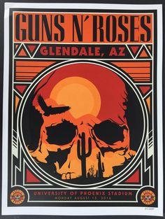 Guns N Roses Phoenix Glendale Az 2016 Concert Poster Rare #d To ...