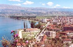 Pogradec on Lake Ohrid- idk why but this picture reminds me of the Wizard of Oz...?