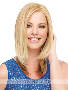Mid-Length Straight Lace Front Synthetic Wig